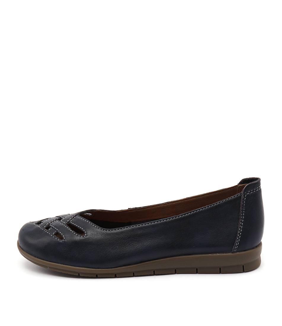 Supersoft Famously Dark Blue Flat Shoes