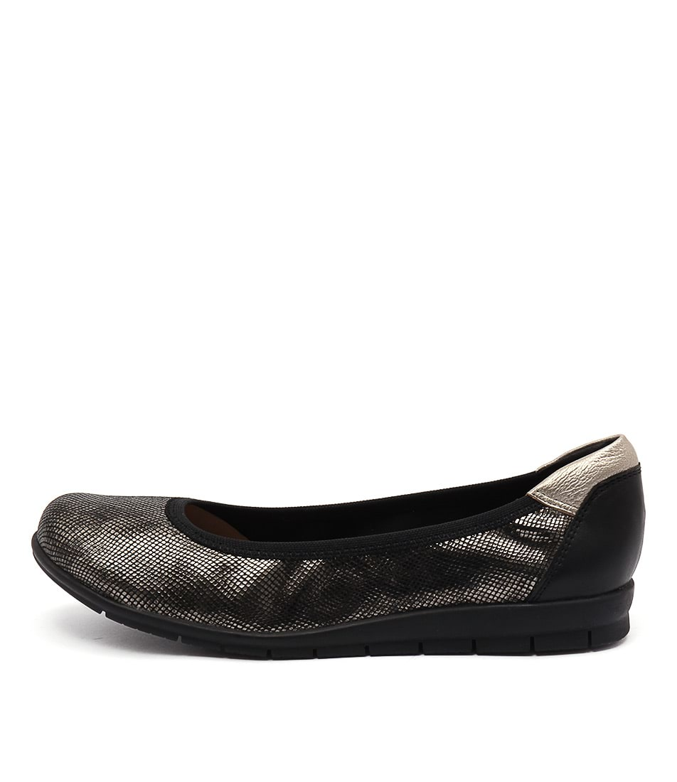 Supersoft Falls Su Black Pewter Flats