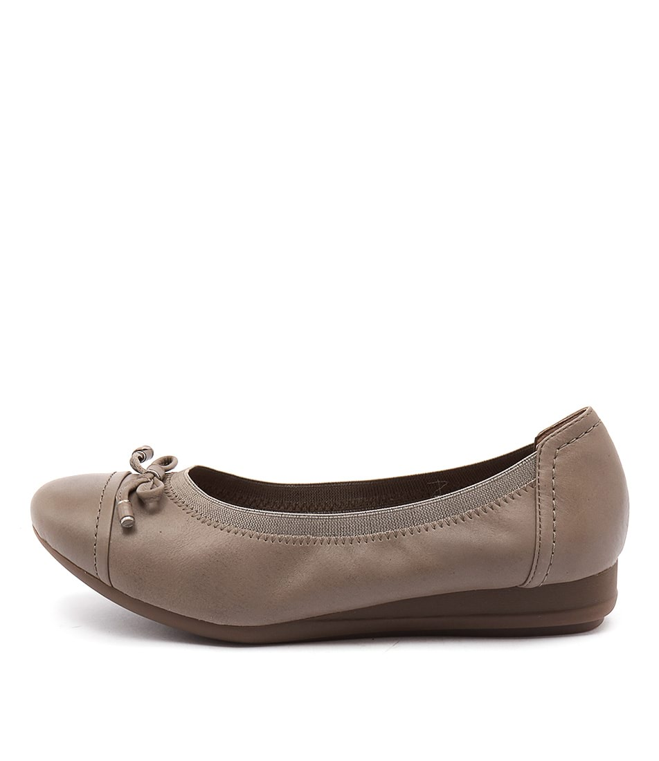 Supersoft Napa Taupe Flat Shoes