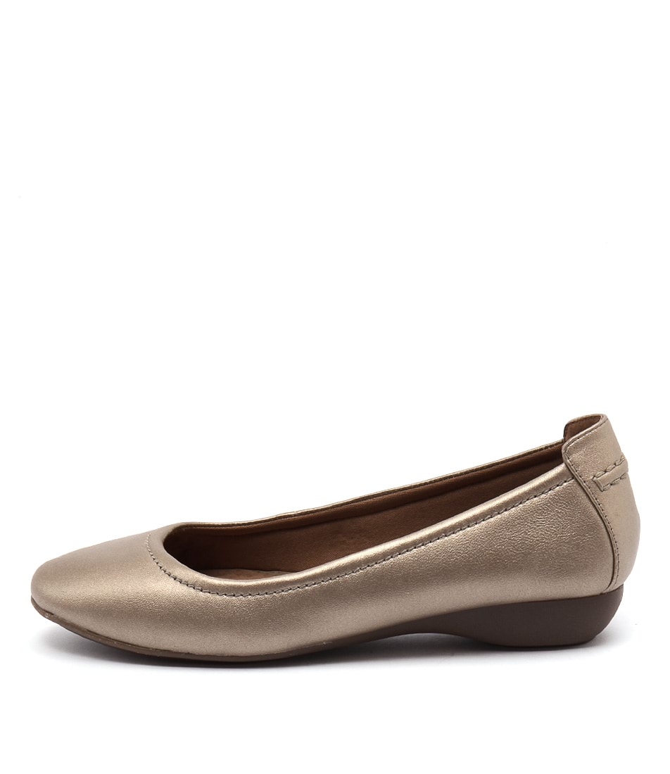 Supersoft Emporia Bronze Metallic Flat Shoes