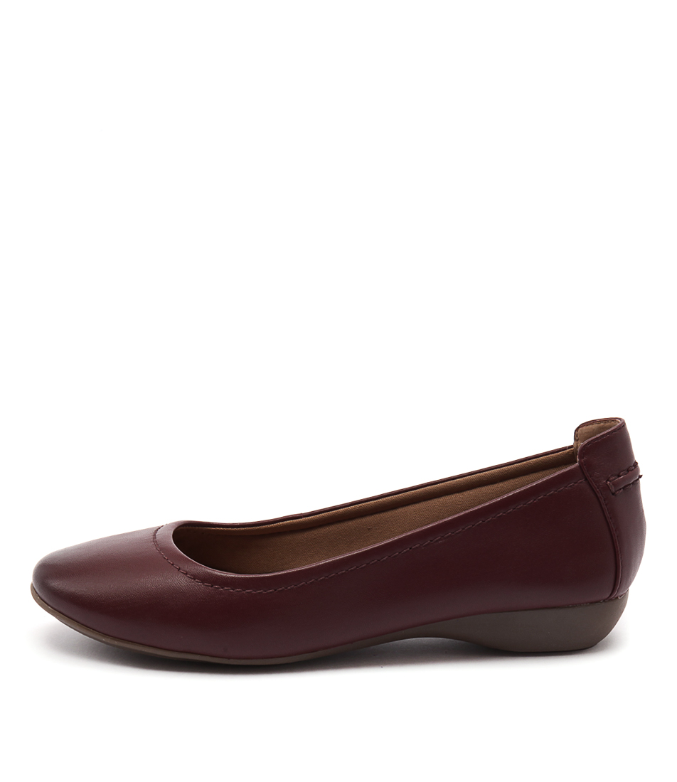 Supersoft Emporia Rich Red Casual Flat Shoes