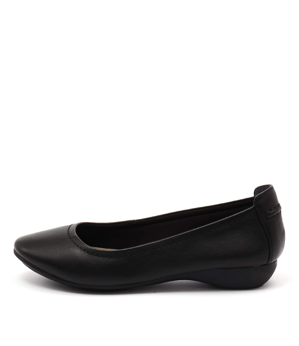 Supersoft Emporia Black Casual Flat Shoes