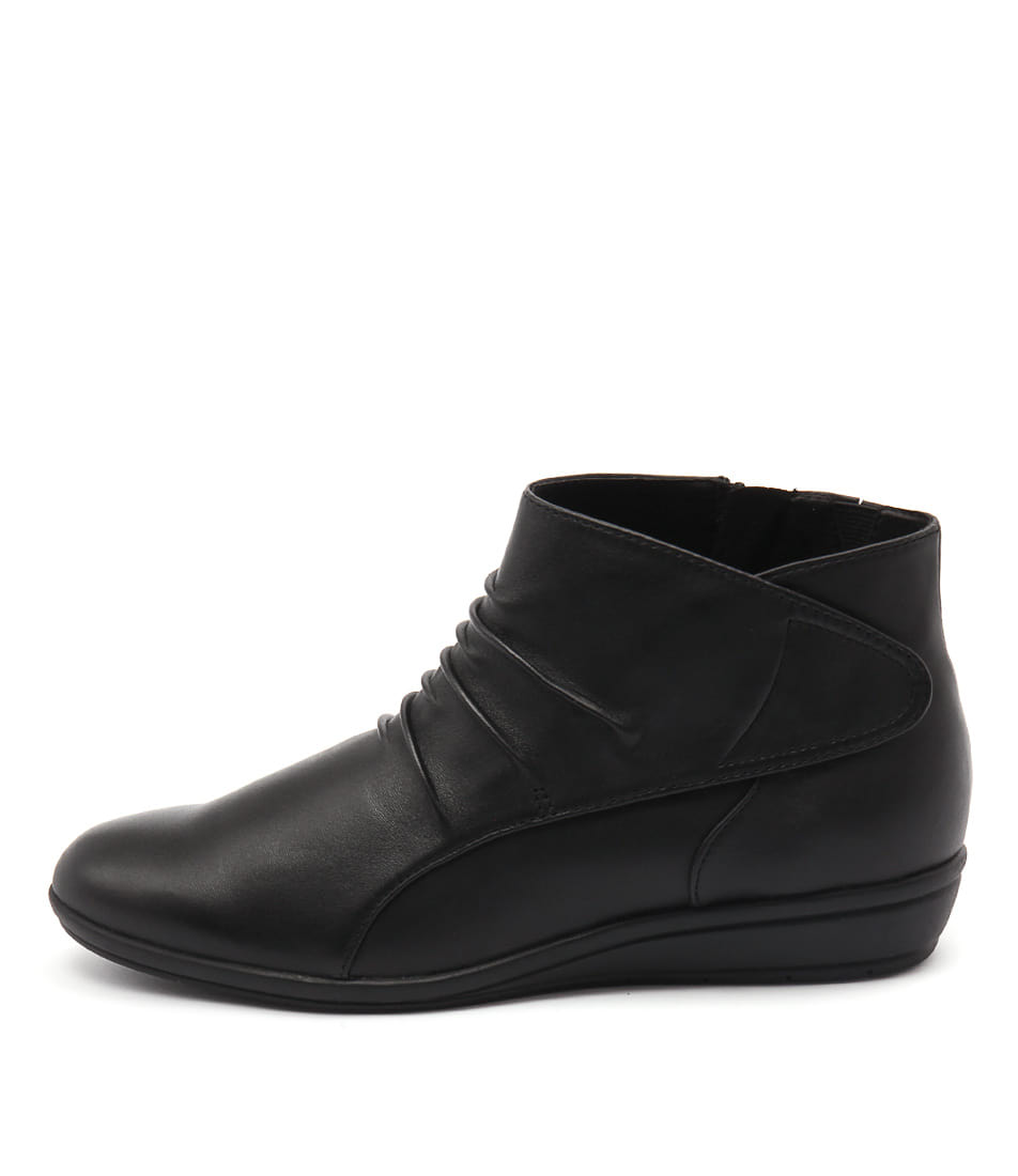 Supersoft Finnic Black Ankle Boots