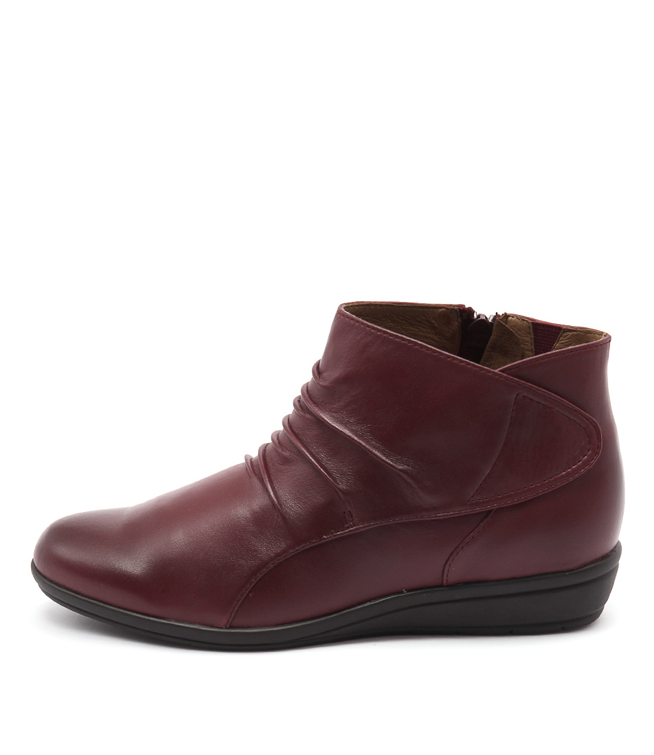 Supersoft Finnic Rich Red Ankle Boots
