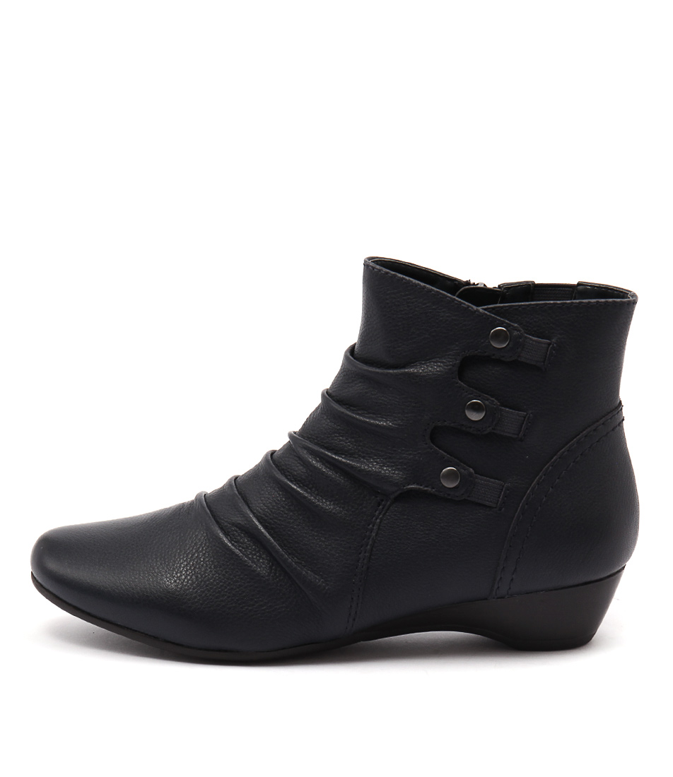 Supersoft Danele Dark Blue Casual Ankle Boots