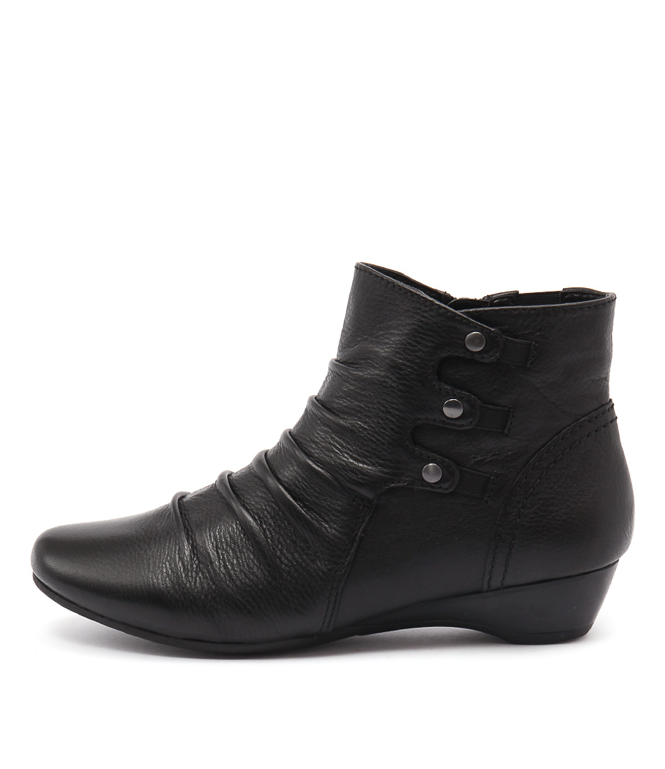 Supersoft Danele Black Casual Ankle Boots