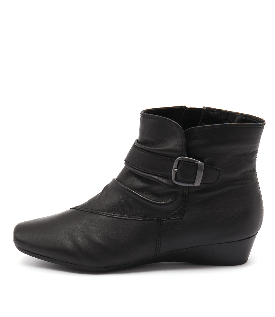 Supersoft Ruybens Black Casual Ankle Boots