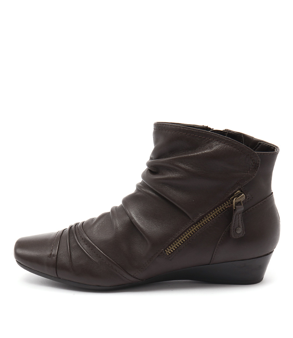 Supersoft Raines Dark Brown Casual Ankle Boots