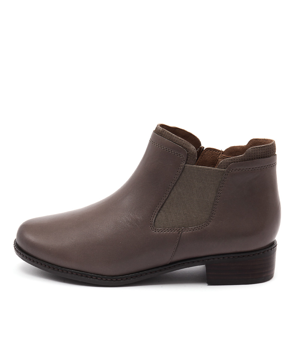 Supersoft Parris Dark Taupe Casual Ankle Boots