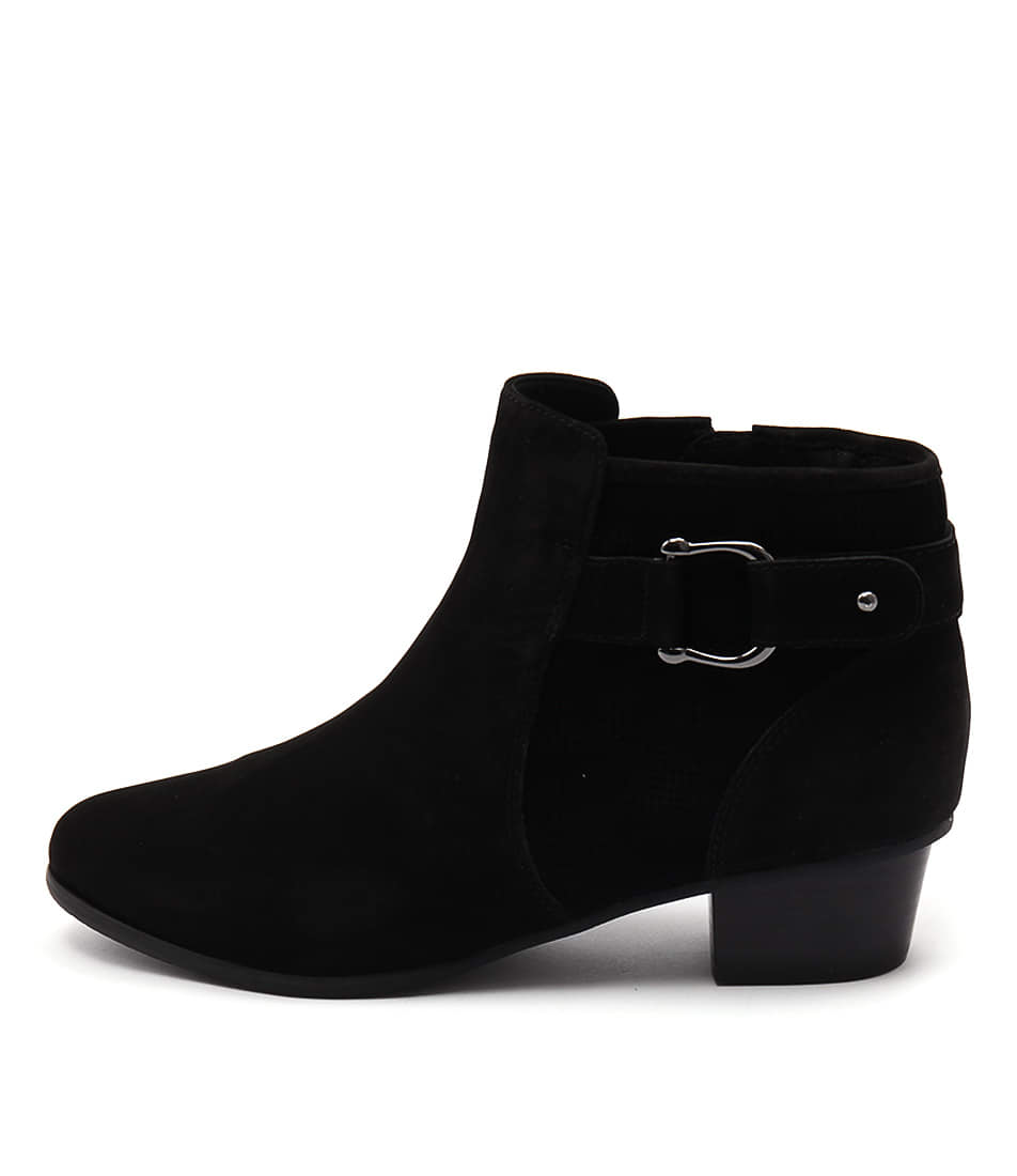 Supersoft Kingsley Black Ankle Boots