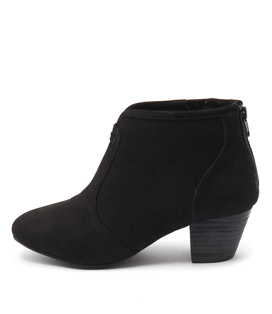 Supersoft Hula Su Black Casual Ankle Boots