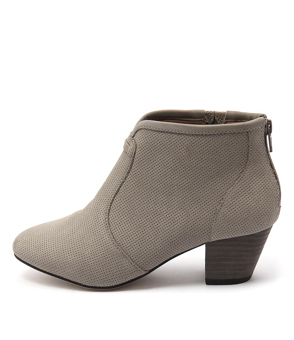 Supersoft Hula Su Light Grey Casual Ankle Boots