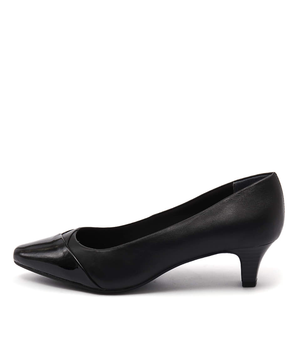 Supersoft Leia Black Dress Heeled Shoes