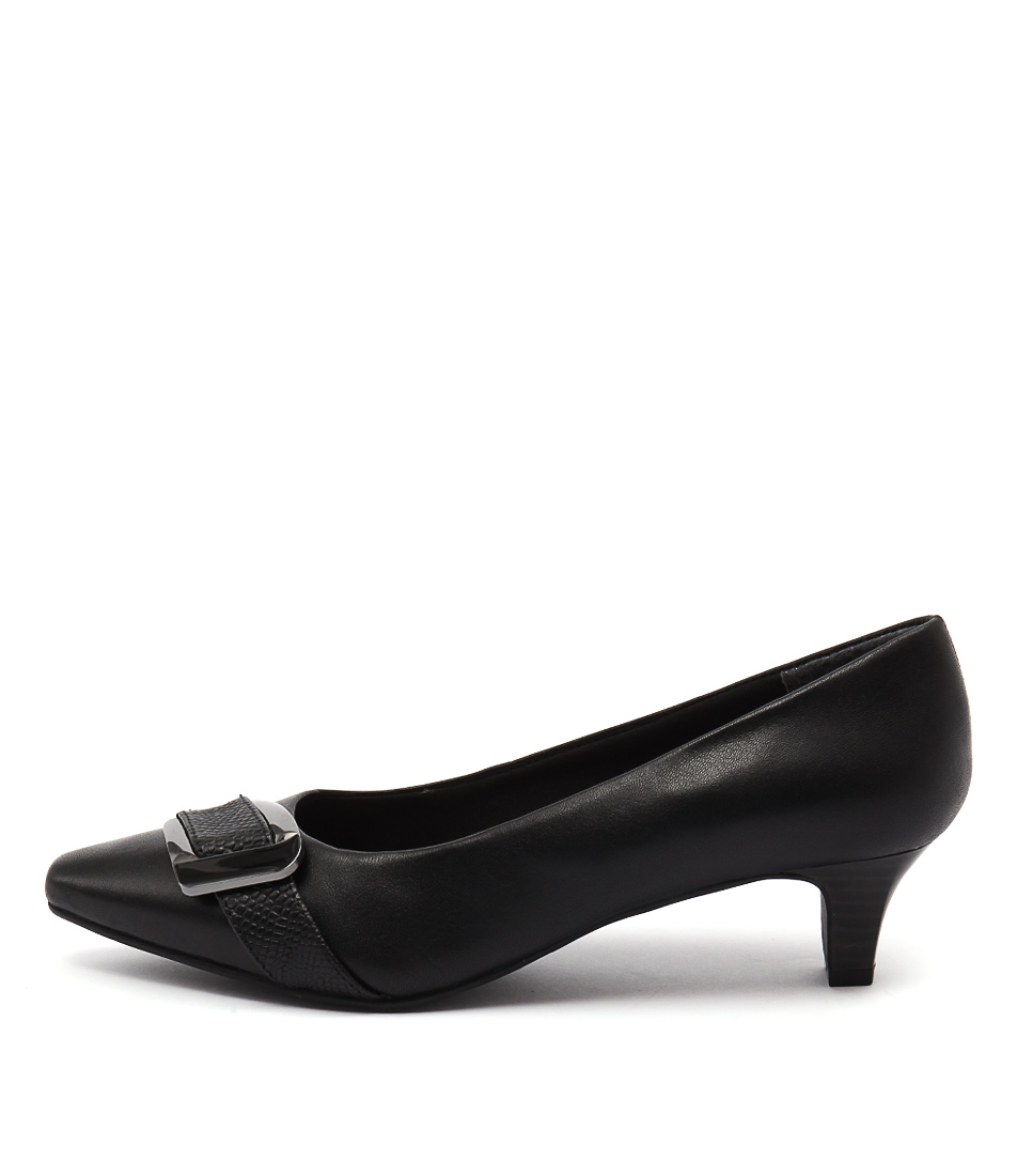 Supersoft Lyberty Black Heeled Shoes