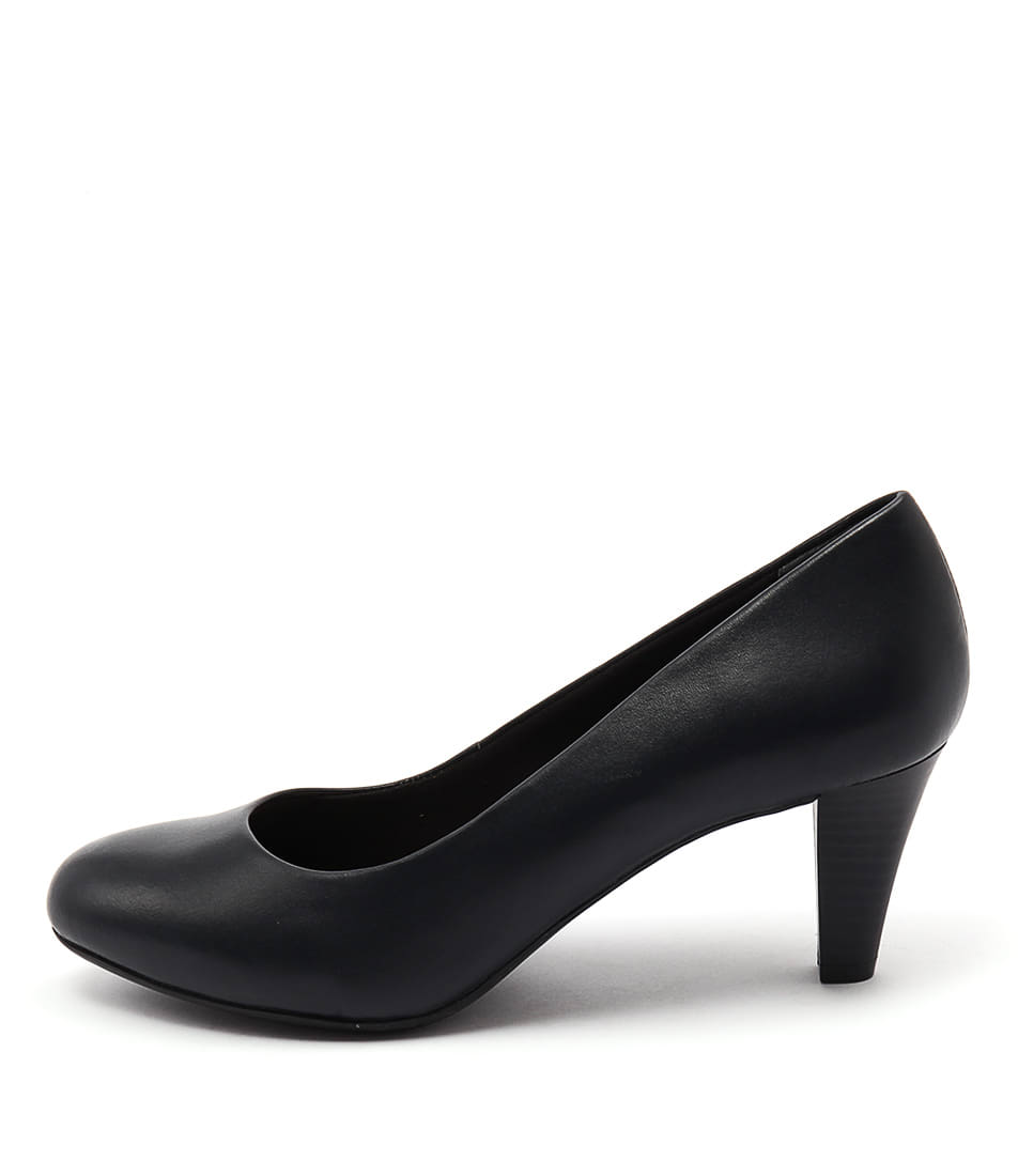 Supersoft Corey Navy Dress Heeled Shoes