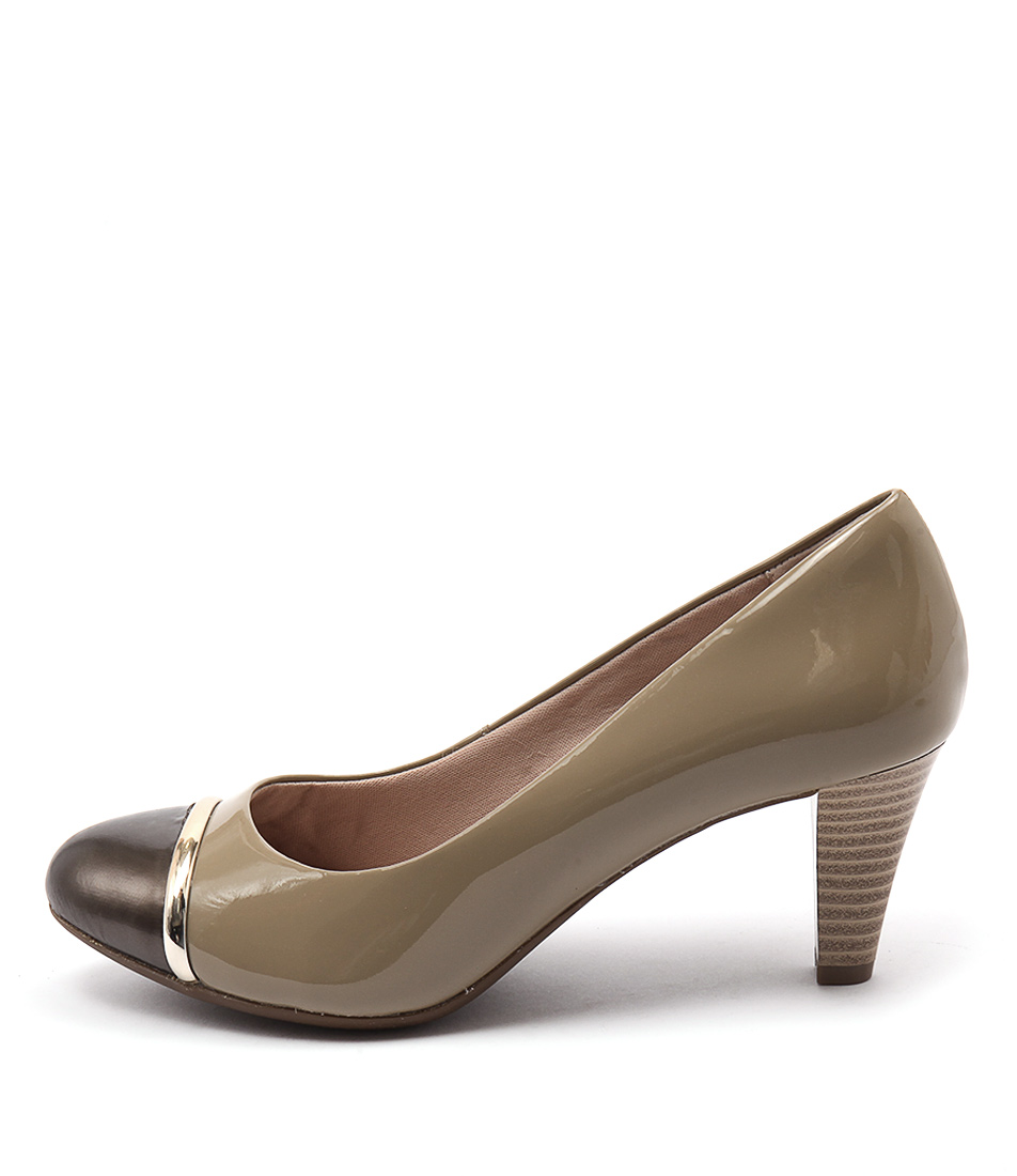 Supersoft Chantilly Fawn Bronze Heeled Shoes