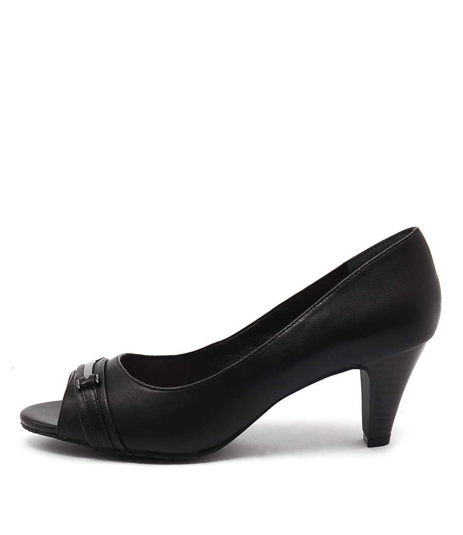 Supersoft Udele Su Black Dress Heeled Shoes