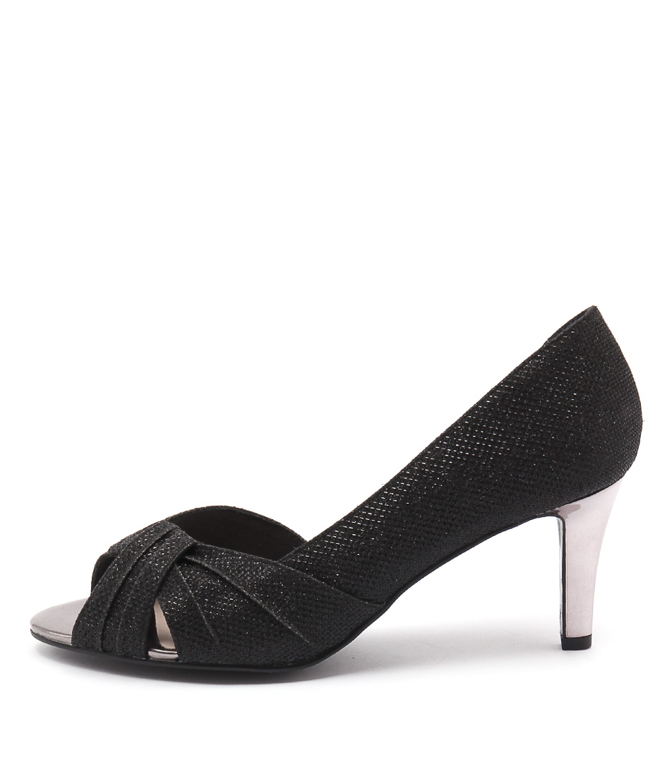 Supersoft Olivea Black Dress Heeled Shoes