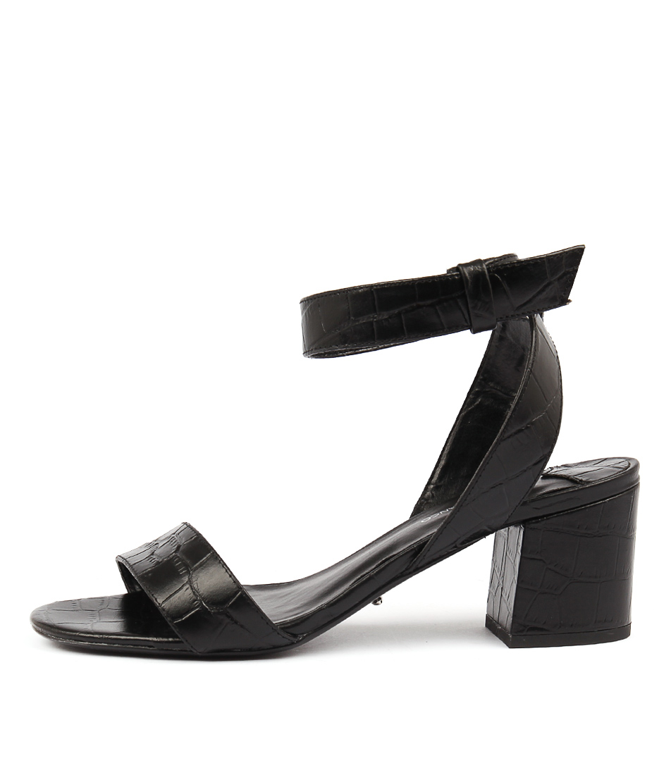 Tony Bianco Nadia Tb Black Casual Heeled Sandals