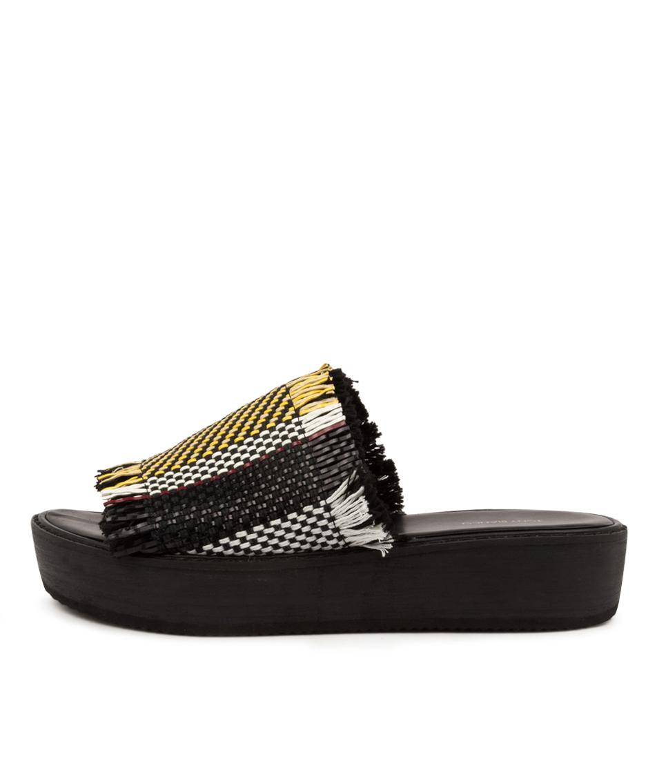 Buy Tony Bianco Ebony Tb Black Multi Flat Sandals online with free shipping