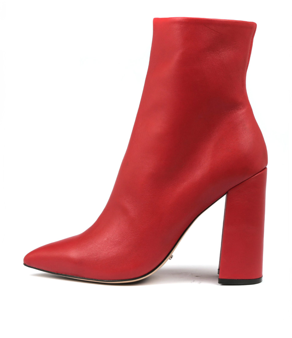 Tony Bianco Diego Red Jetta Ankle Boots
