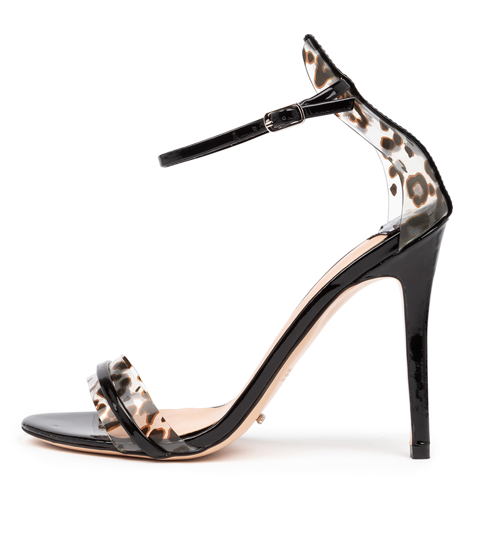 Buy Tony Bianco Kosumi Black Leopard Heeled Sandals online with free shipping