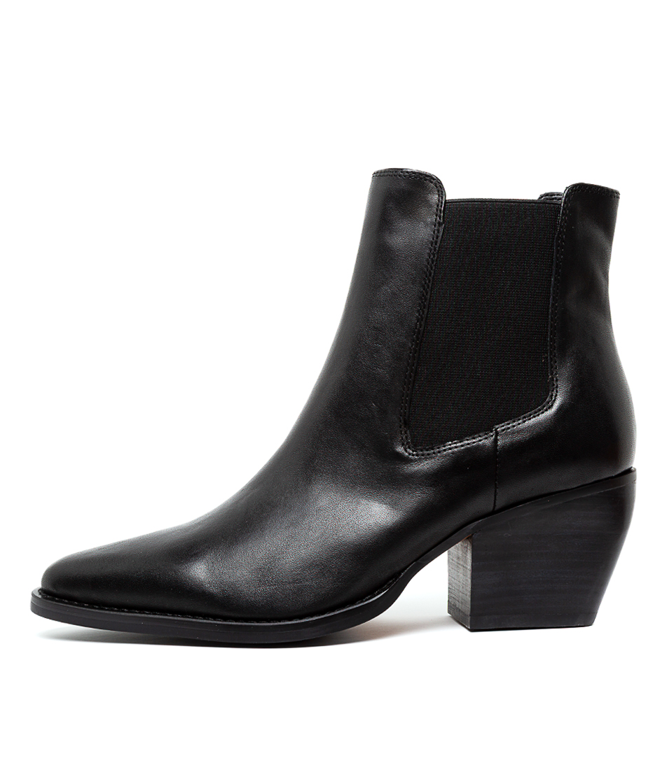 Buy Tony Bianco Priscilla Black Como Ankle Boots online with free shipping