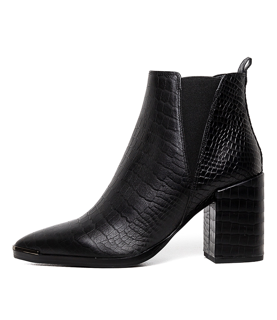 Buy Tony Bianco Bello Tb Black Alligator Ankle Boots online with free shipping