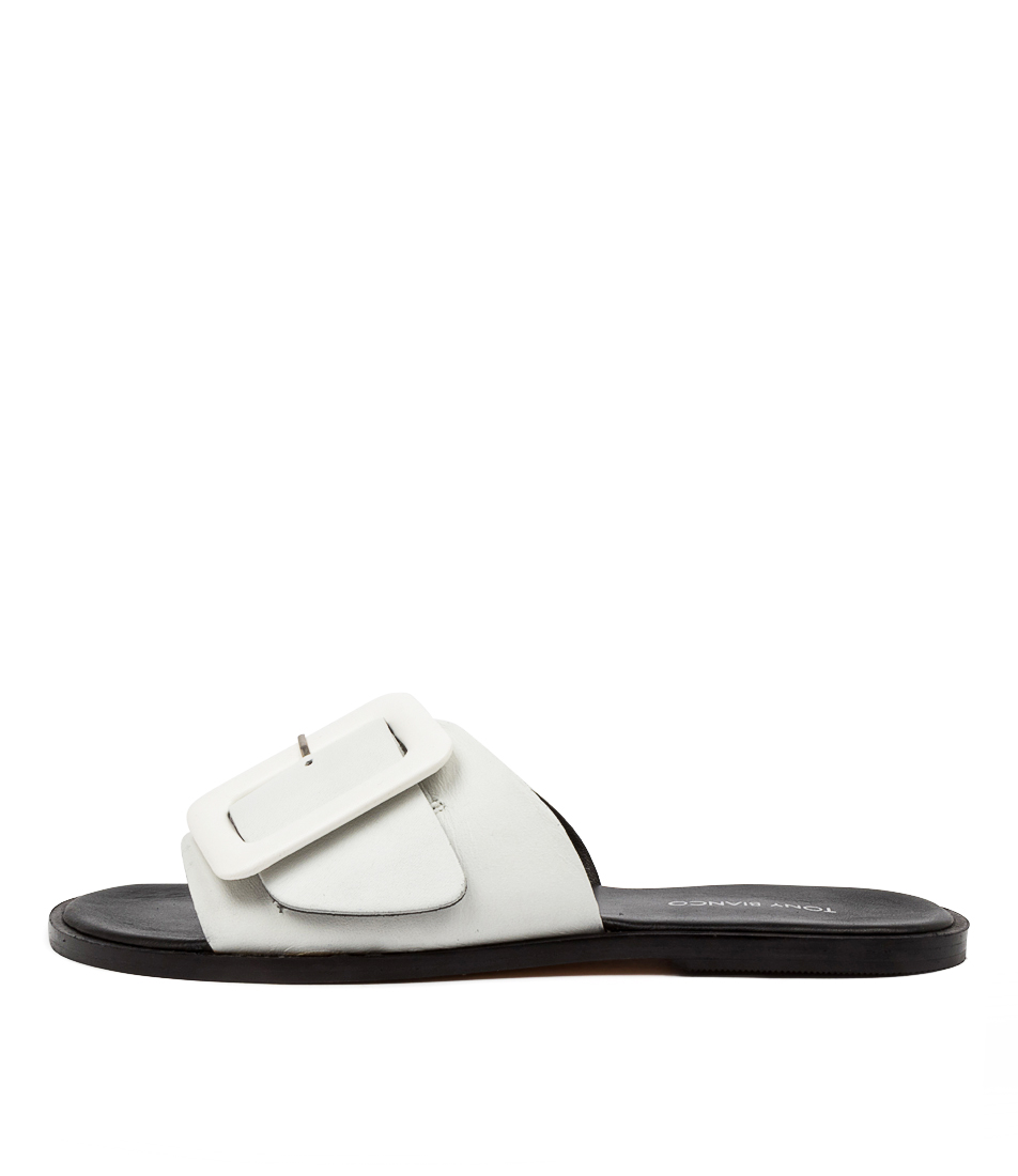 Buy Tony Bianco Raven Tb White Flat Sandals online with free shipping