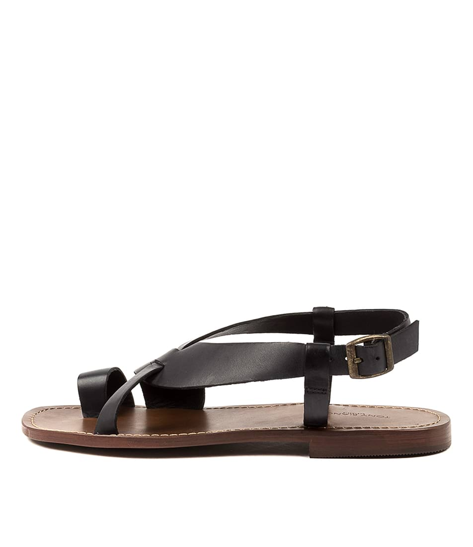 Buy Tony Bianco Aila Tb Black Flat Sandals online with free shipping