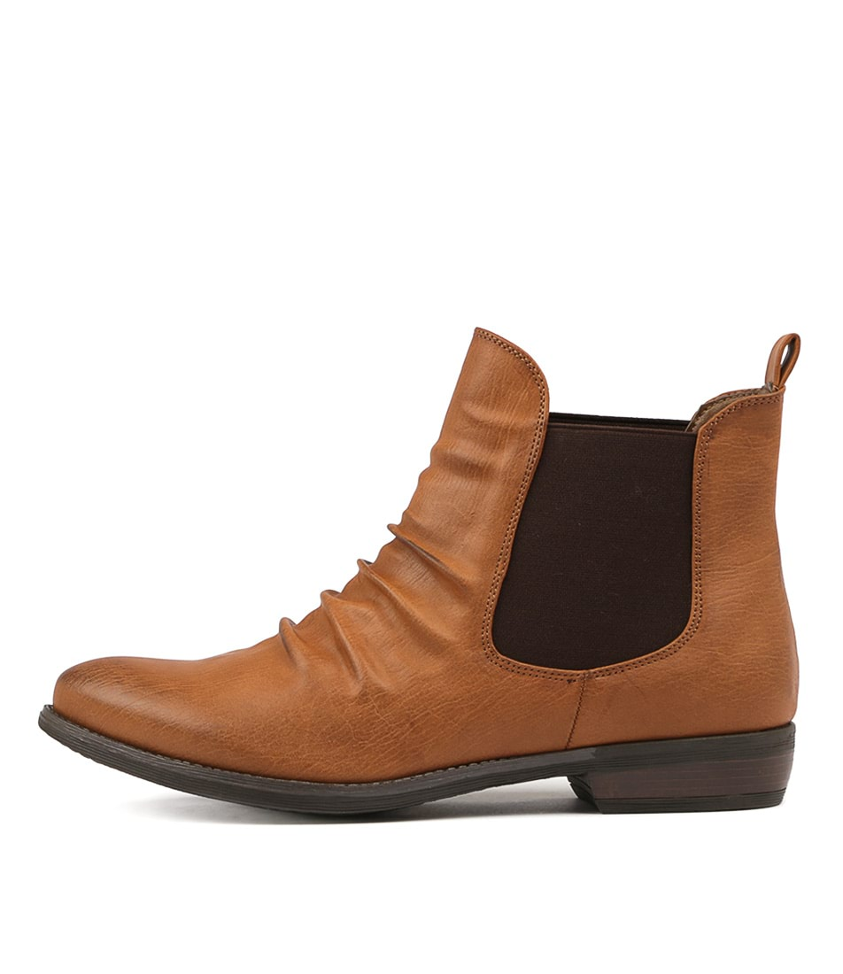 Buy Therapy Redwood Brown Ankle Boots online with free shipping