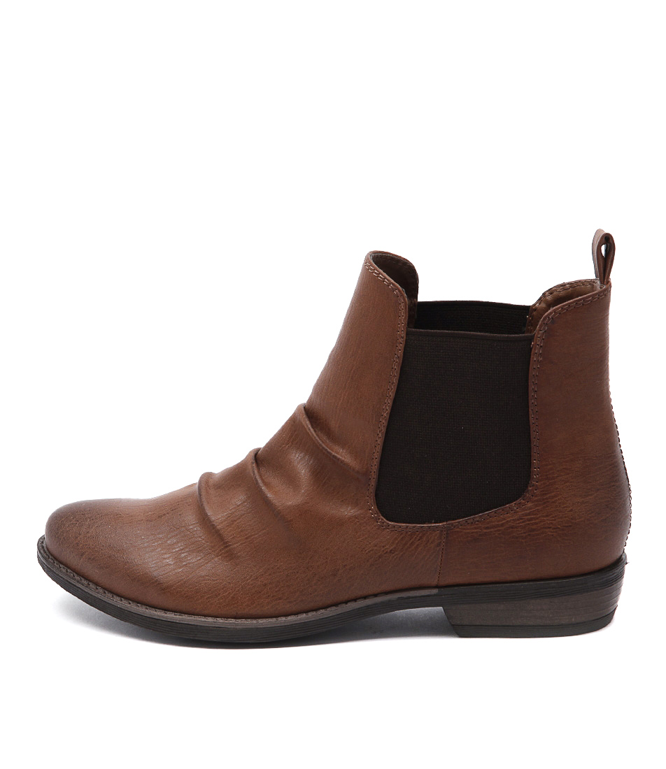Therapy Redwood Tan Ankle Boots