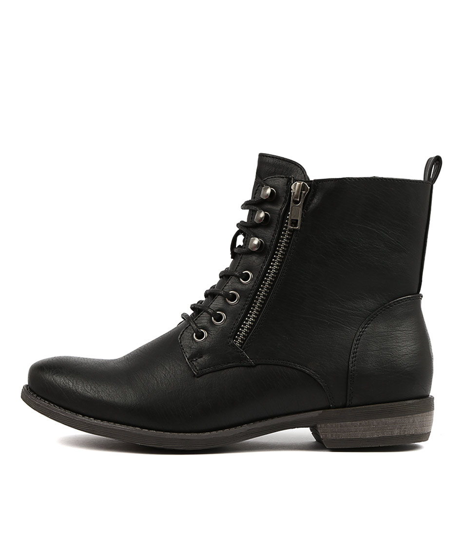 Buy Therapy Geronimo Black Ankle Boots online with free shipping