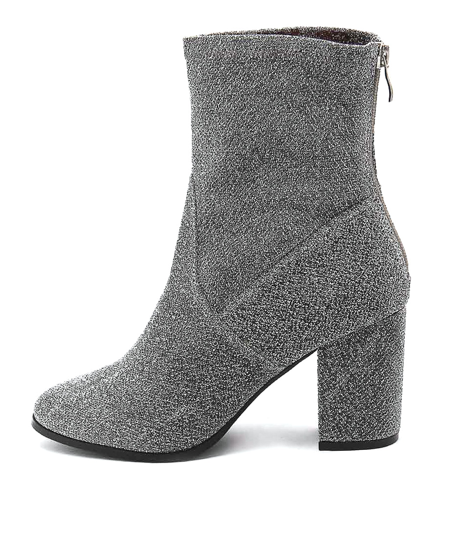 Therapy Hoxton Silver Ankle Boots