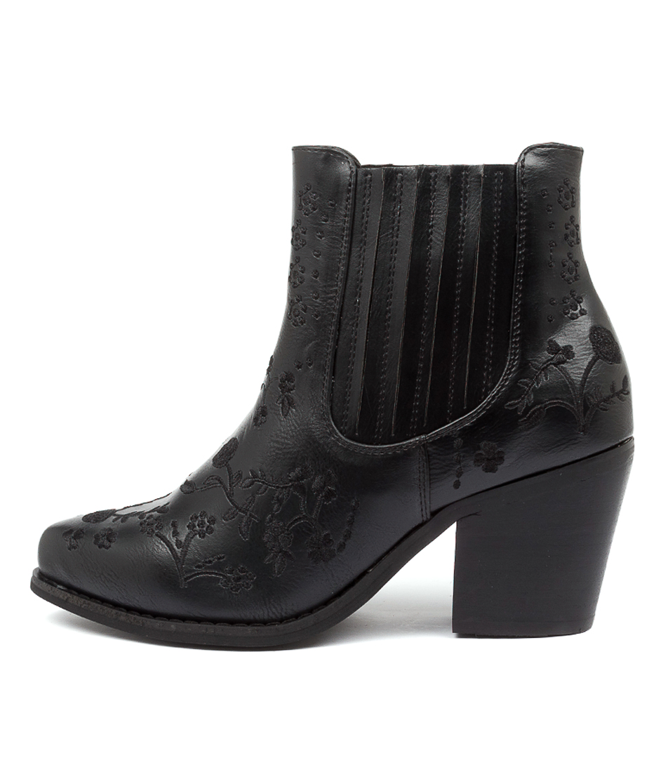 Buy Therapy Meadow Th Black Ankle Boots online with free shipping