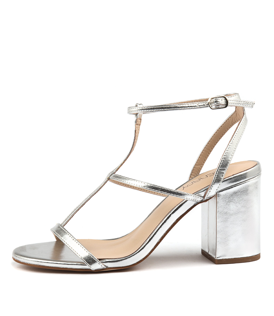 Therapy Madera Th Silver Party Heeled Sandals