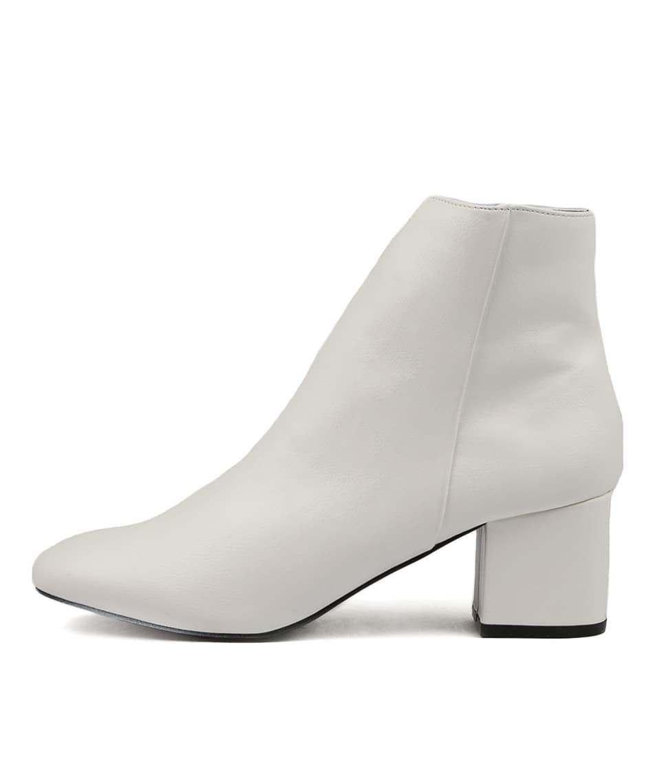 Therapy Cashion White Ankle Boots