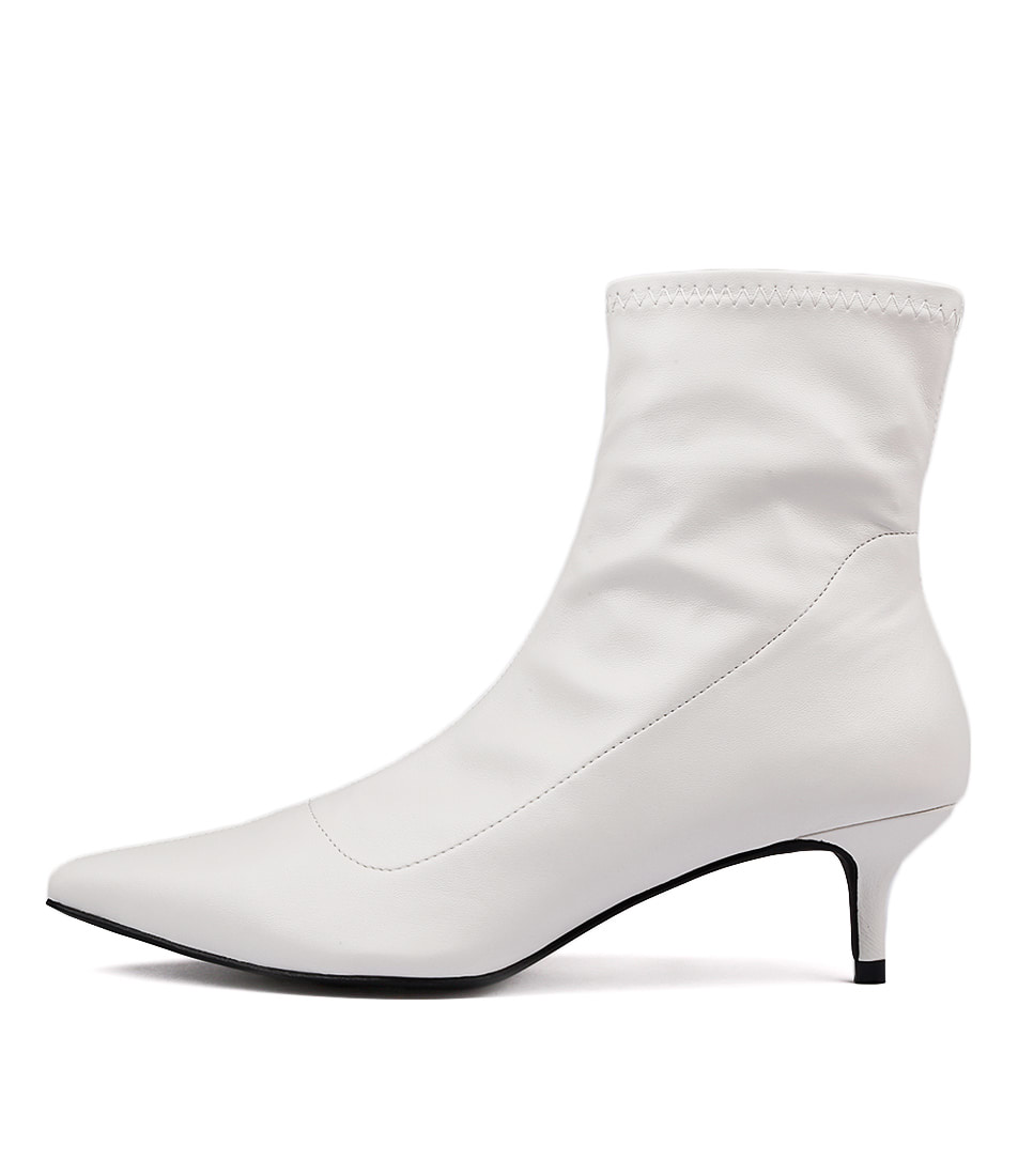 Therapy Crescent White Ankle Boots