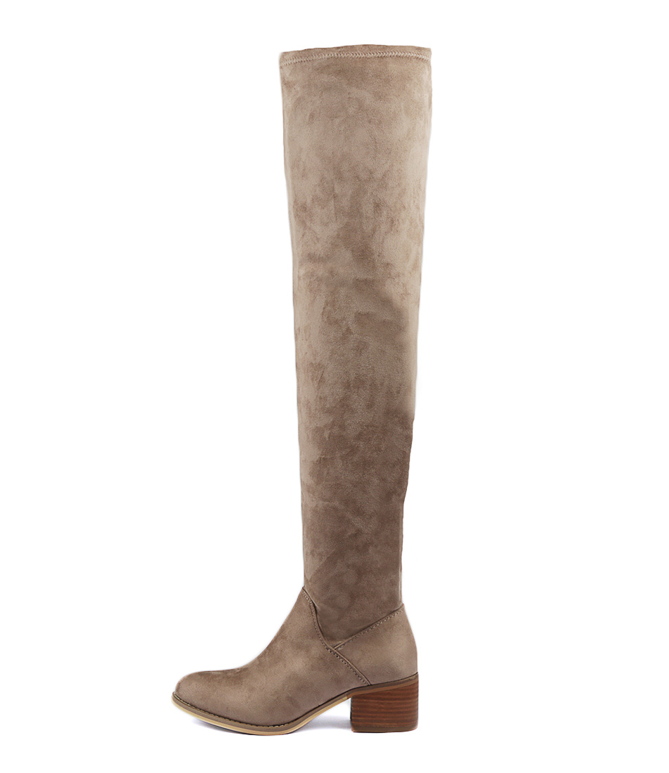 Buy Therapy Rayburn Taupe Long Boots online with free shipping