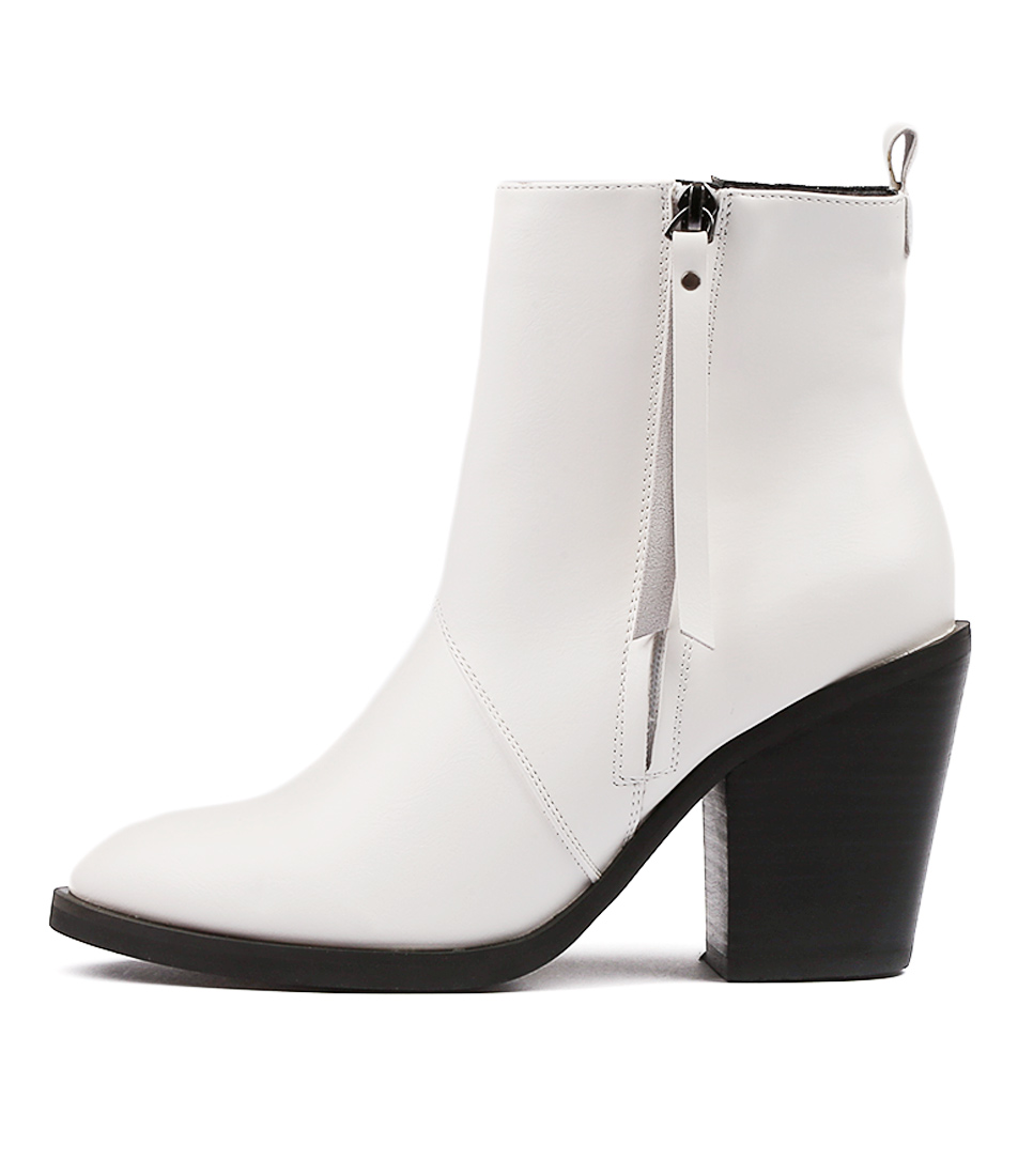 buy Therapy Rowlett White Ankle Boots shop Therapy Boots, Ankle Boots online
