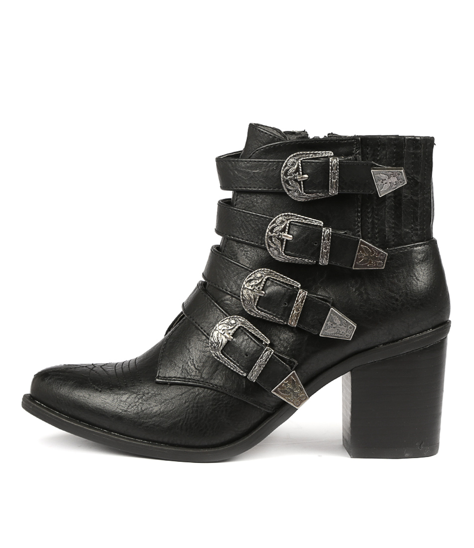Buy Therapy Bexar Black Ankle Boots online with free shipping