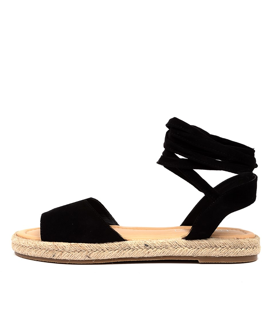 Buy Therapy Dauphin Black Flat Sandals online with free shipping