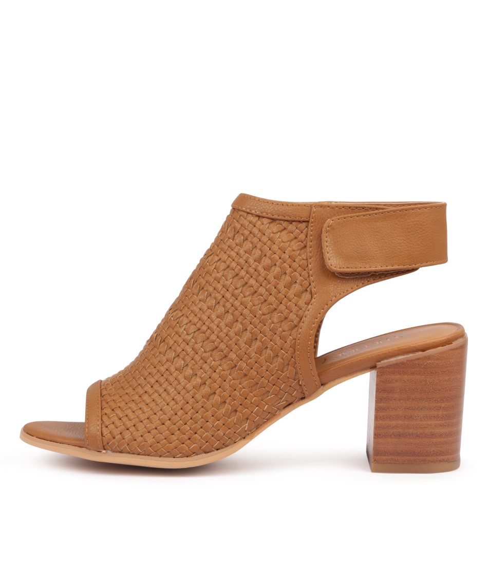 Buy Therapy Sagrada Tan Heeled Sandals online with free shipping