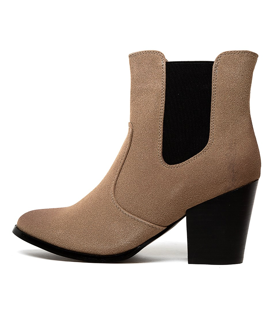 Buy Therapy Miles Th Taupe Ankle Boots online with free shipping