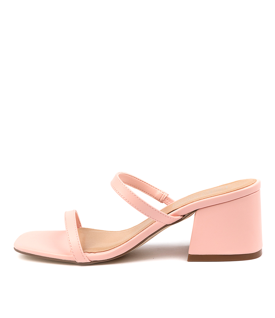 Buy Therapy Goldie Th Pastel Pink Heeled Sandals online with free shipping