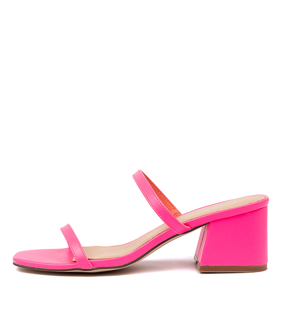 Buy Therapy Goldie Th Neon Pink Heeled Sandals online with free shipping