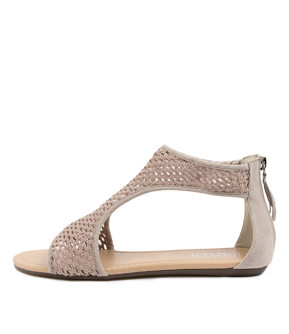 Buy Therapy Labocalino Th Grey Flat Sandals online with free shipping