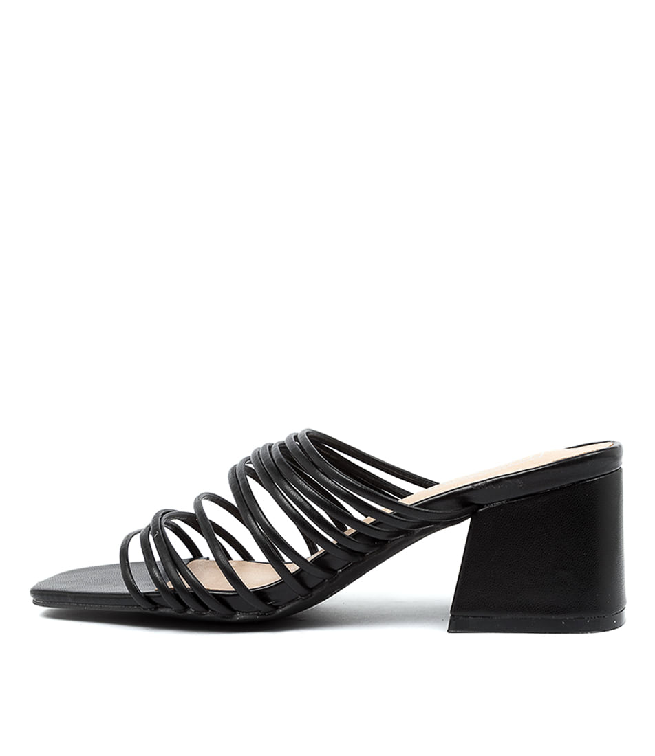 Buy Therapy Lola Th Black Heeled Sandals online with free shipping