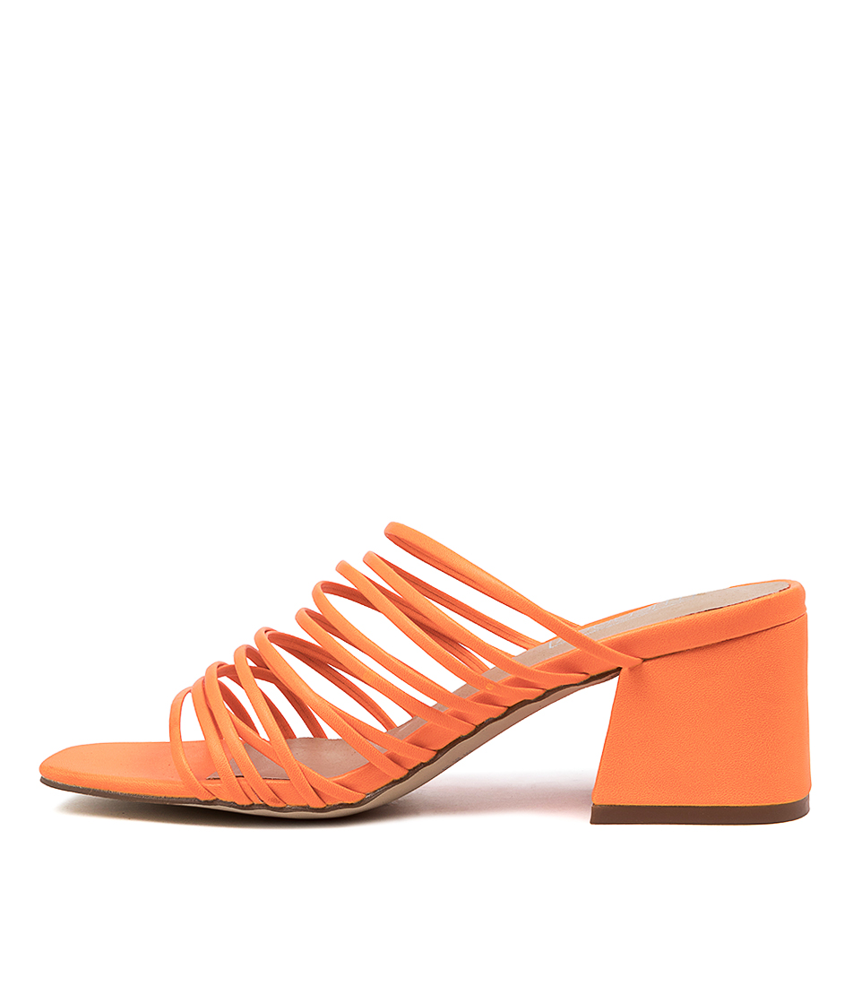 Buy Therapy Lola Th Orange Heeled Sandals online with free shipping