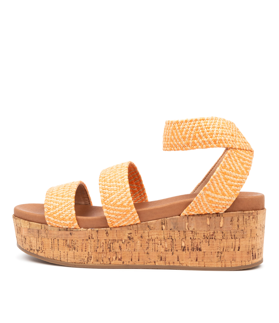 Buy Therapy Wilder Th Orange Natural Heeled Sandals online with free shipping